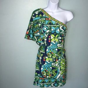 Trina Turk Dresses - Trina Turk Bali Hai One Shoulder Mini Dress
